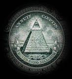 Пирамида с всевидящим оком стоковые фотографии rf