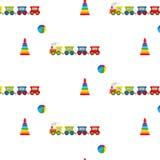 Пирамида, шарик и локомотив иллюстрация штока