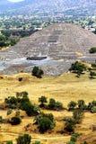 Пирамида v луны, teotihuacan стоковое изображение