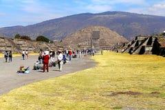 Пирамида VI луны, teotihuacan стоковое фото