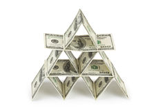 Пирамидка денег Стоковые Фото