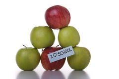 пирамидка яблок Стоковые Изображения