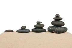 4 пирамидки на песке Стоковые Изображения RF