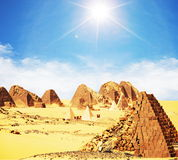 пирамидки Судан стоковое фото