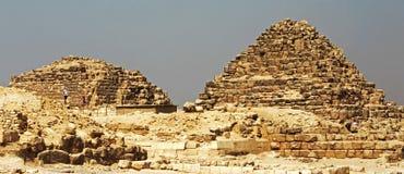 Пирамиды в пустыне Египта Гизы Стоковая Фотография