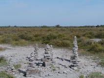 Пирамиды из камней как наземный ориентир Стоковое Изображение