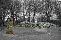 Пирамиды из камней Clava, Шотландия Стоковая Фотография