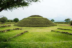 Пирамиды Guachimontones круглые стоковое изображение