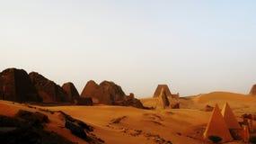 Пирамиды Meroe стоковое изображение