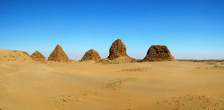Пирамиды Nuri, Napata, Судан стоковое фото