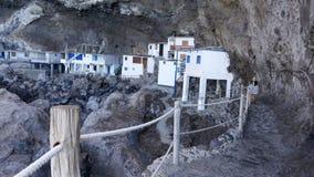 Пиратская пещера Poris de Candelaria, скрытая туристическая достопримечательность вблизи Тиярафе акции видеоматериалы
