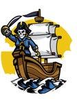 Пиратский корабль с черепом пирата бесплатная иллюстрация