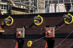 пиратский корабль в Генуе Стоковые Фотографии RF