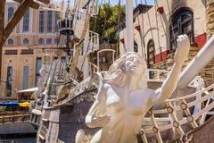 Пиратский корабль гостиницы и казино острова сокровища Стоковая Фотография