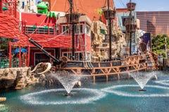 Пиратский корабль гостиницы и казино острова сокровища Стоковое фото RF