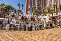 Пиратский корабль гостиницы и казино острова сокровища Стоковые Фото