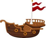 Пиратский корабль с предпосылкой Стоковые Фотографии RF