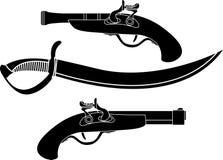 пиратствует оружие иллюстрация вектора