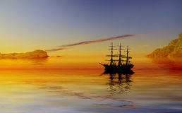пираты бухточки Стоковое фото RF