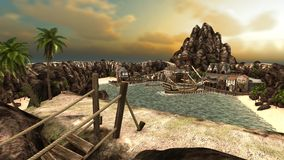 пираты бухточки Стоковое Изображение