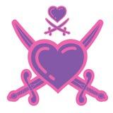 пираты влюбленности Стоковое Фото