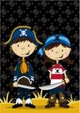 Пираты шаржа Стоковая Фотография