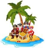 Пират в острове сокровища Стоковые Фотографии RF