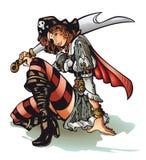 пират девушки Стоковое Изображение