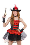 Пират женщины с оружием Стоковые Фото