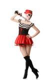 Пират женщины с шпагой costume halloween Стоковое Изображение