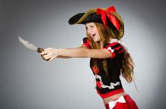 Пират женщины Стоковое Изображение RF