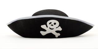 пират изолированный шлемом Стоковое фото RF