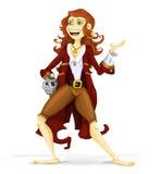пират иллюстрации девушки Стоковое Фото