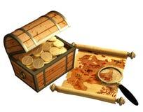 пират карты Стоковые Фото