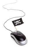 пират мыши флага компьютера Стоковая Фотография RF