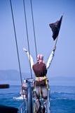 Пират на шлюпке Стоковое фото RF