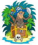 пират обезьяны острова Стоковые Фотографии RF