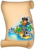 пират пергамента карамболя Стоковые Фото