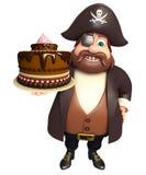 Пират с тортом Стоковое Изображение