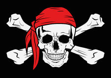 Пират черепа векторной графики иллюстрации Стоковая Фотография RF