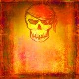 Пират черепа - ретро карточка Стоковые Фотографии RF