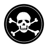 Пират черное Марк Стоковые Фото