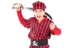 пират costume мальчика Стоковые Фото