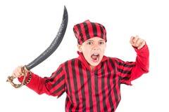 пират costume мальчика Стоковое Изображение