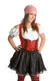 пират costume сексуальный Стоковые Фото