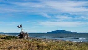 Пират Frag пляжа Otaki Стоковые Фото