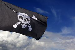 пират roger флага весёлый Стоковая Фотография