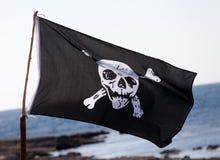 пират roger флага весёлый Стоковое Изображение RF