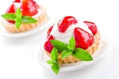 2 пирога клубники Стоковое Изображение RF