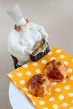 2 пирога на плите, салфетке Стоковые Изображения RF
